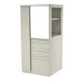 """Left Wardrobe Door Storage Cabinet with Binder Storage - 52"""" H, 36417"""