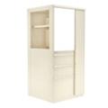 """Right Wardrobe Door Storage Cabinet with Binder Storage - 52""""H, 36418"""