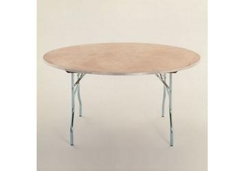 "Round Plywood Folding Table - 48"" Diameter, 46761"