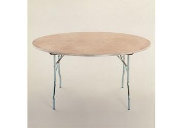 "Round Plywood Folding Table - 60"" Diameter, 46762"
