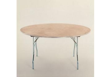 "Round Plywood Folding Table - 72"" Diameter, 46763"