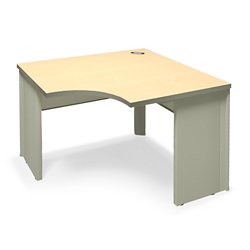 "Curved-Front Corner Workstation - 36""W x 24""D , 21390"