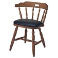 Solid Wood Dining Chair with Vinyl Seat, 44368