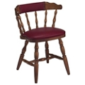 Wood Frame Chair with Vinyl Seat and Back, 44369