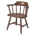 Solid Wood Chair with Full Arms, 44370
