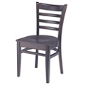 Ladder Back Wood Chair, 44373