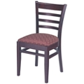Ladder Back Wood Chair with Vinyl Seat, 44374