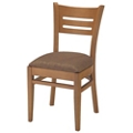 Wood Back Chair with Vinyl Seat, 44375