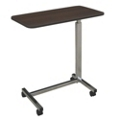 Economy Adjustable Height Overbed Table with Laminate Top, 26033