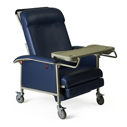 Extra Wide Mobile Patient Recliner with Adjustable Headrest, 26060