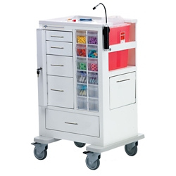 "Phlebotomy Cart with Five Drawers and Gatelock - 45""H, 36982"