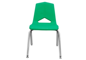 "V Back Student Chair with 12""H Chrome Frame, 51634"
