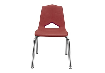 "V Back Student Chair with 16""H Chrome Frame, 51636"