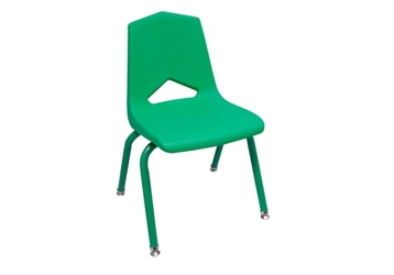 "V Back Student Chair with 12""H Color Frame, 51639"