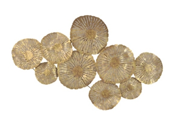 Large Circles Gold Metal Art, 92287