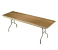 "Plywood Folding Table with Wishbone Legs - 18"" x 96"", 41084"