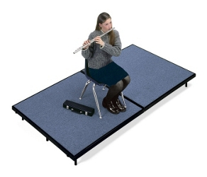 "Mobile Carpeted Stage - 72""W x 96""D x 24""H, 80013"