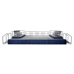 Portable Stage Set with Seated Platform - 24'W x 24'D, 80376