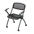 Mobile Mesh Stack Chair with Arms, 51356