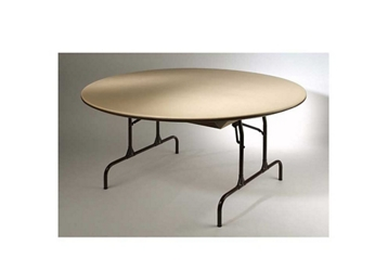 "Plastic Round Folding Table 48"" Diameter, 46665"