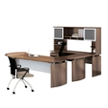 "Left U-Desk with Hutch and Extension - 91""W, 14468"