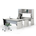 "Left U-Desk with Hutch - 63""W, 14471"