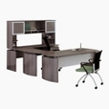 "Right U-Desk with Hutch - 63""W, 14421"