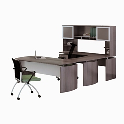 "Left Executive U-Desk with Hutch - 73""W, 14422"