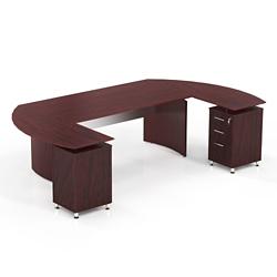 "Curved U-Desk - 103""W, 14462"