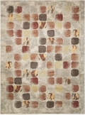 Abstract Print Area Rug - 5.25'W x 7.25'D, 82207