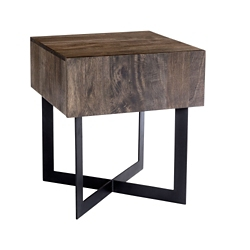 "Solid Wood Side Table - 20""W, 46240"