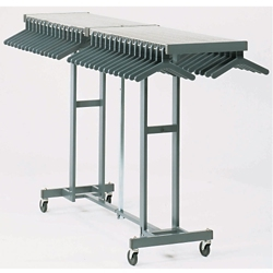 Folding Coat Rack on Casters, 90160