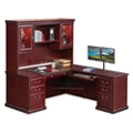 "L-Desk with Right Return and Hutch - 69""W, 10153"