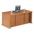 """Wheat Oak Double Pedestal Desk - 68.25""""W, 10159"""