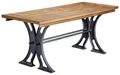 "Writing Table Desk with Cast Metal Base - 72""W, 10228"