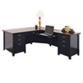 Distressed Black L-Desk with Right Return , 13475