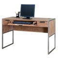 "Wire Brushed Laptop and Writing Desk with Steel Frame - 48""W, 13817"