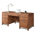"Double Pedestal Desk with Metal Accents - 64""W, 14156"