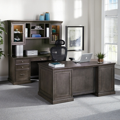 Office desk pictures Rustic Statesman Three Piece Office Suite 14243 National Business Furniture Office Desk Sets Get The Executive Look For Your Office Nbfcom