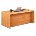 "Medium Oak Double Pedestal Desk - 68""W, 14368"