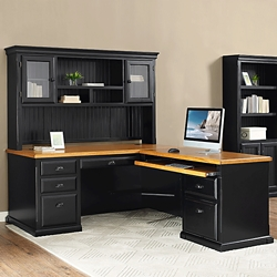 "Right Return L-Desk with Hutch - 68.25""W, 16015"