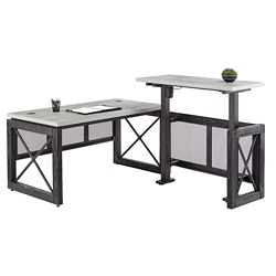 "Urban Adjustable Height L-Desk with Right Return - 60""W, 16377"
