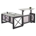 "Urban Adjustable Height L-Desk with Left Return - 60""W, 16378"