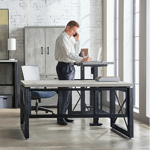 Urban LDesk with Left Return Office Suite with Storage