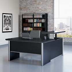 "Metropolitan Adjustable Height L-Desk with Left Return - 60""W, 16381"