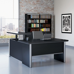 "Metropolitan Adjustable Height L-Desk with Right Return - 72""W, 16382"