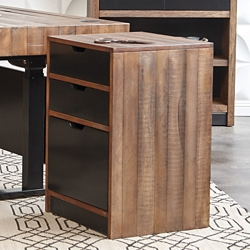 "Two Tone Three Drawer Pedestal - 18.75""W, 30129"