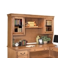 "Wheat Oak Hutch with Glass Doors - 69.25""W, 31907"