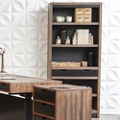 """Two Tone Five Shelf Bookcase with Drawers - 72""""H, 32162"""