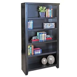 """60"""" H Five Shelf Open Bookcase in a Distressed Finish, 32923"""